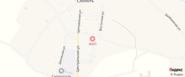 Заовражная улица на карте села Снопоти с номерами домов
