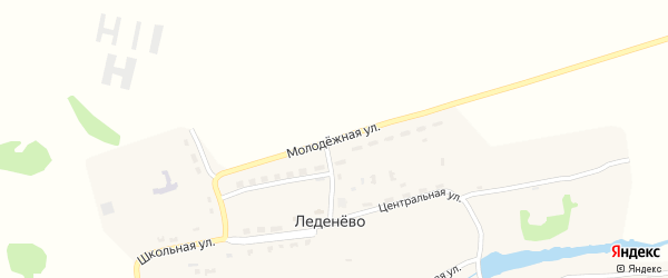 Молодежная улица на карте деревни Леденево с номерами домов