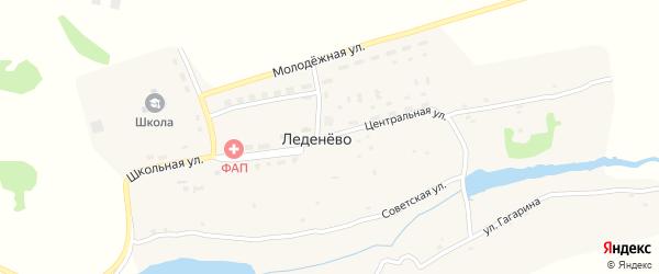Центральная улица на карте деревни Леденево с номерами домов