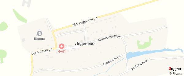 Улица Гагарина на карте деревни Леденево с номерами домов
