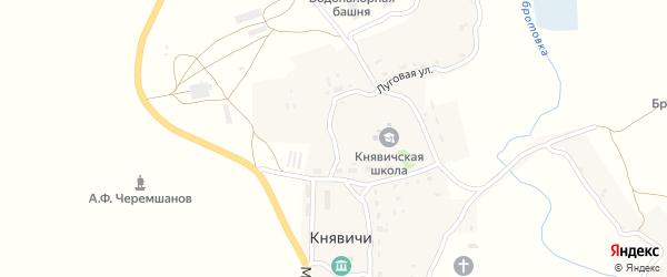 Луговая улица на карте села Княвичей с номерами домов