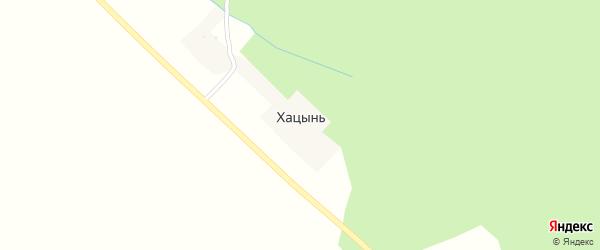 Окружная улица на карте деревни Хацыни с номерами домов