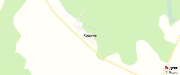 Карта деревни Хацыни в Брянской области с улицами и номерами домов