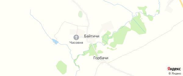Карта села Байтичи в Брянской области с улицами и номерами домов