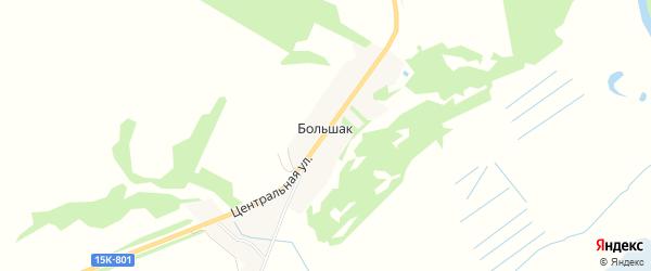 Карта поселка Большака в Брянской области с улицами и номерами домов