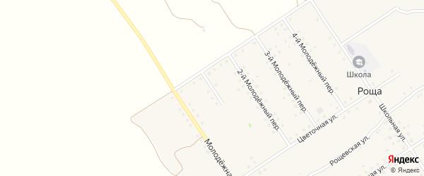 1-й Молодежный переулок на карте поселка Рощи с номерами домов