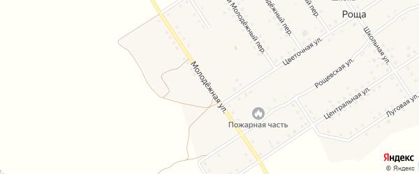 Молодежная улица на карте поселка Рощи с номерами домов
