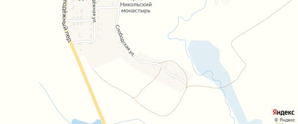 Слободская улица на карте села Княвичей с номерами домов