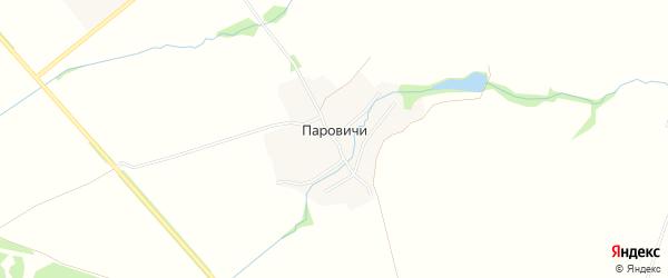 Карта деревни Паровичи в Брянской области с улицами и номерами домов