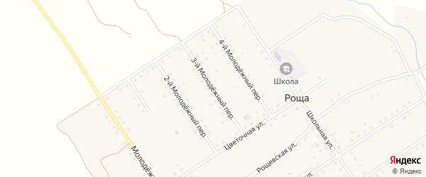 3-й Молодежный переулок на карте поселка Рощи с номерами домов