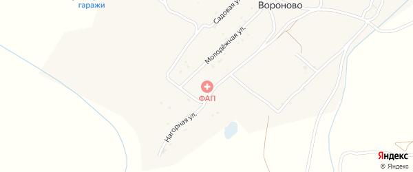 Молодежный переулок на карте села Вороново с номерами домов