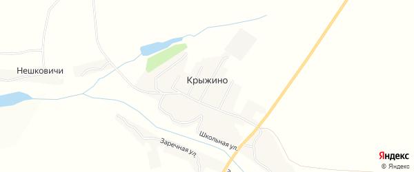Карта села Крыжино в Брянской области с улицами и номерами домов