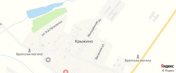 Молодежная улица на карте села Крыжино с номерами домов