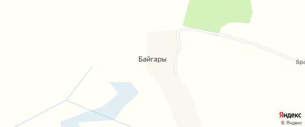 Сельская улица на карте деревни Байгары с номерами домов