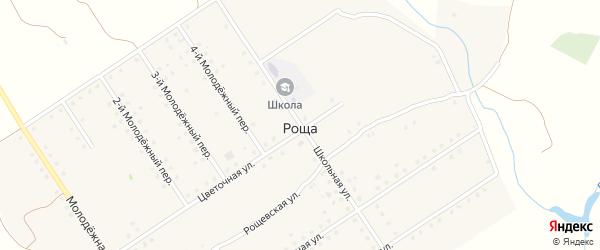 Школьная улица на карте поселка Рощи с номерами домов