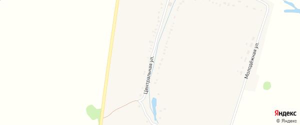 Центральная улица на карте деревни Молчаново с номерами домов