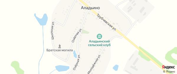 Трубчевская улица на карте деревни Аладьино с номерами домов