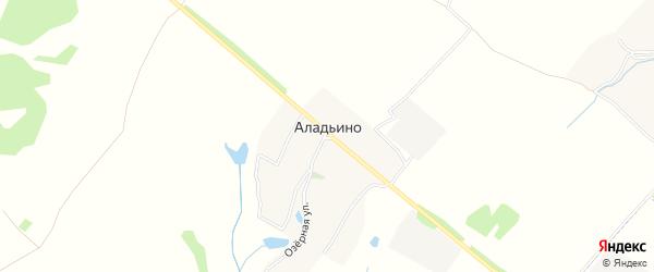 Карта деревни Аладьино в Брянской области с улицами и номерами домов