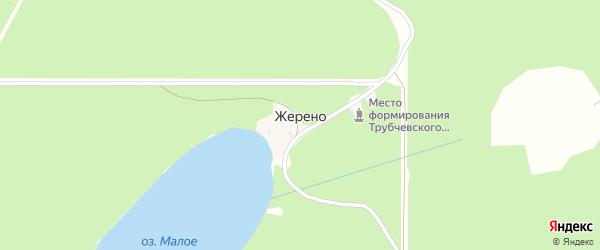 Озерная улица на карте хутора Жерено с номерами домов