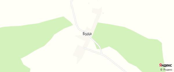 Почтовая улица на карте деревни Буды с номерами домов