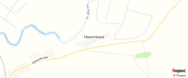 Карта деревни Никитенки в Брянской области с улицами и номерами домов