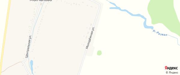 Молодежная улица на карте деревни Молчаново с номерами домов