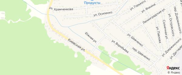 Южная улица на карте Жуковки с номерами домов