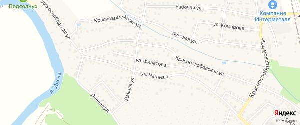 Улица Филатова на карте Жуковки с номерами домов