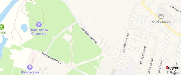 Футбольная улица на карте Жуковки с номерами домов