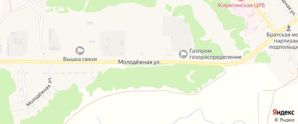 Молодежная улица на карте села Жирятино с номерами домов
