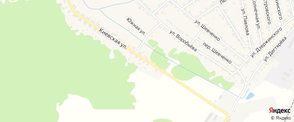Киевская улица на карте Жуковки с номерами домов
