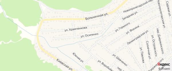 Улица Осипенко на карте Жуковки с номерами домов