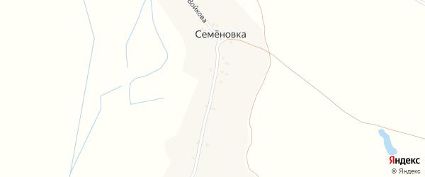 Улица Войкова на карте поселка Семеновки с номерами домов