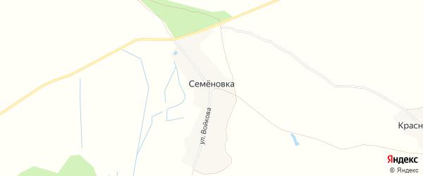 Карта поселка Семеновки в Брянской области с улицами и номерами домов