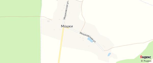 Мошковская улица на карте поселка Мошки с номерами домов