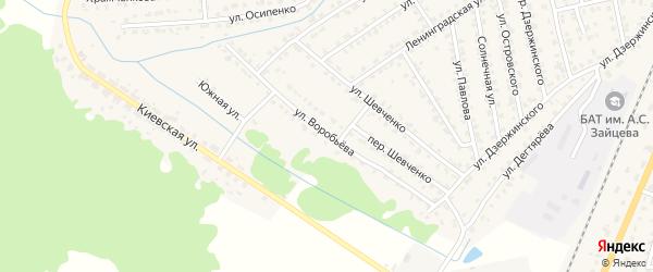 Улица Воробьева на карте Жуковки с номерами домов