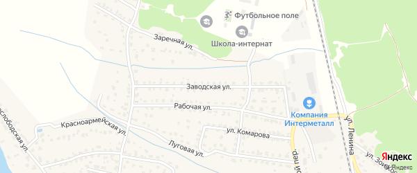 Заводская улица на карте Жуковки с номерами домов