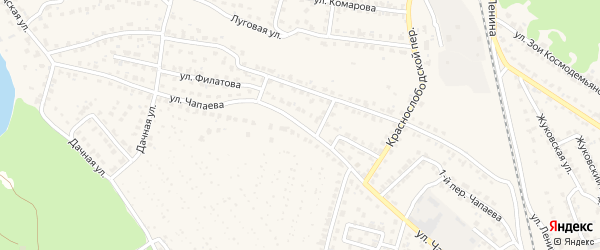 Улица Чапаева на карте Жуковки с номерами домов