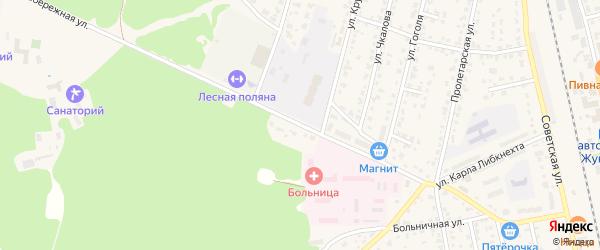 Первомайский переулок на карте Жуковки с номерами домов