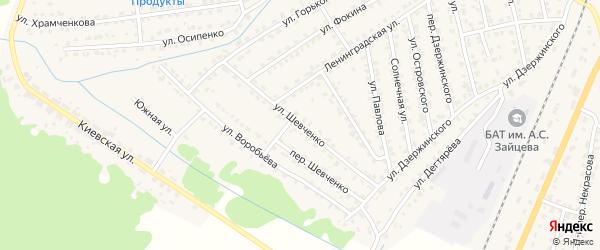 Улица Шевченко на карте Жуковки с номерами домов