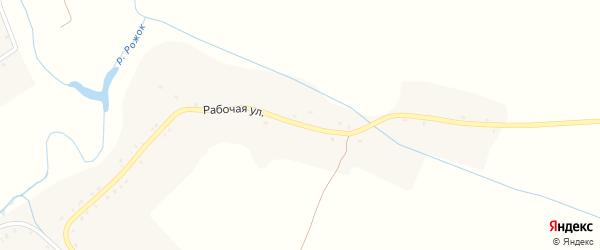 Рабочая улица на карте села Усошки с номерами домов
