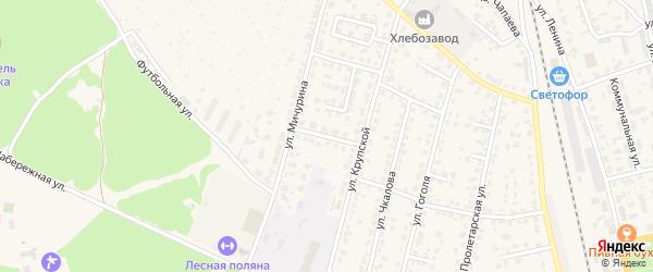 Переулок Лермонтова на карте Жуковки с номерами домов