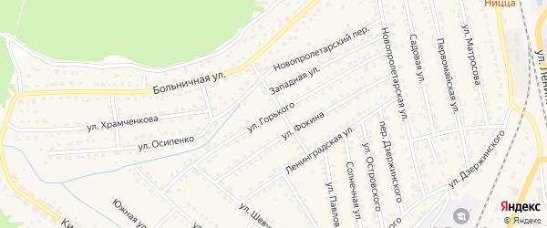 Улица Горького на карте Жуковки с номерами домов