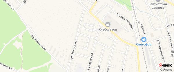 Переулок Маяковского на карте Жуковки с номерами домов