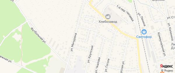 Спортивная улица на карте Жуковки с номерами домов