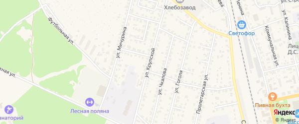 Улица Крупской на карте Жуковки с номерами домов