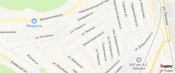 Переулок Горького на карте Жуковки с номерами домов
