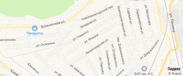 Улица Фокина на карте Жуковки с номерами домов