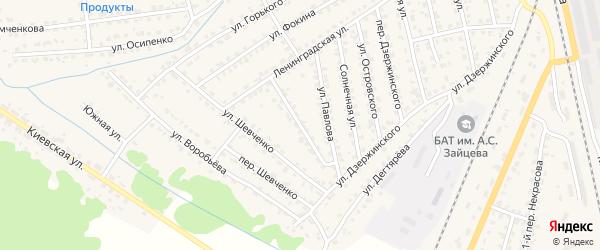 Ленинградский переулок на карте Жуковки с номерами домов