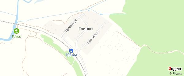 Лесная улица на карте деревни Глинки с номерами домов